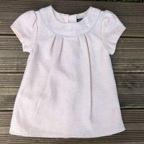 Vestido KIABI Rosa chá e glitter prata 3M Ref 066 - 3 meses - Kiabi