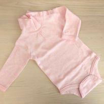 Body Teddy boom cacharrel  rosa bebê 0-3M Ref 055 - 0 a 3 meses - Teddy Boom