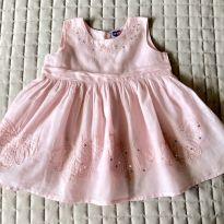 Vestido tip top rosa bebê com paetê 3-6M Ref 098 - 3 a 6 meses - Tip Top