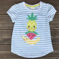 Blusinha H&M abacaxi 6-9M Ref 064 - 6 a 9 meses - H&M