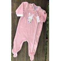 Macacão Baby Way plush coelhinha 6-9M Ref 081 - 6 a 9 meses - Baby Way