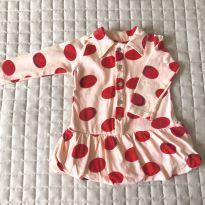 vestido Lilica Ripilica bolas vermelhas 3-6M Ref 094 - 3 a 6 meses - Lilica Ripilica