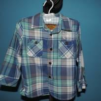 Camisa xadrez Zara Baby - 18 a 24 meses - Zara Baby