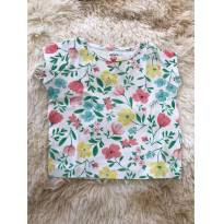 Camiseta floral CARTERS - 6 meses - Carter`s