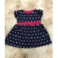 Vestidinho corações - 6 a 9 meses - Basic + Baby