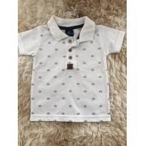 Camiseta gola polo marinheiro - 3 a 6 meses - Onda Marinha