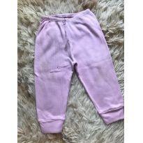 Calça basiquinha rosa - 3 a 6 meses - etiqueta foi cortada