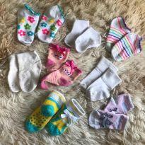 kit 9 pares de meias - 9 a 12 meses - Diversas