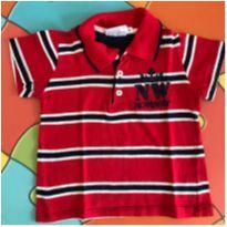 Camisa gola polo - 6 a 9 meses - Noruega Baby