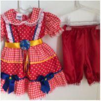 Vestidinho caipira - 12 a 18 meses - Tango Fashion