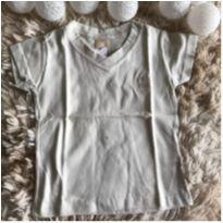 Camiseta gola V linda! - 1 ano - Colorittá