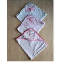 trio toalhas de banho bebê (2 importadas e 1 nacional) -  - Carter`s e Gerber