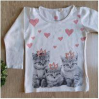 Camisetinha manga longa gatinhos - 1 ano - Baby Club