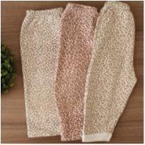 Trio calças oncinha - 0 a 3 meses - Diversas