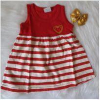 Vestidinho coração lantejoulas - 1 ano - Bicho bagunça