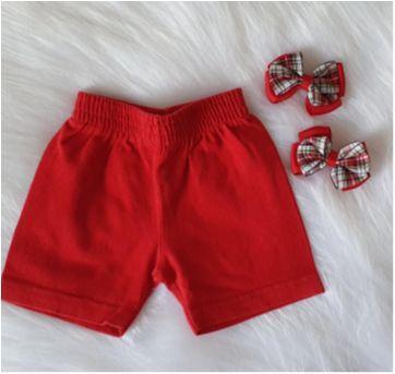 Shortinho vermelho - 9 a 12 meses - Isensee