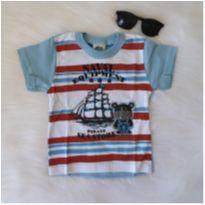 Camiseta ursinho marinheiro - 1 ano - Bicho bagunça