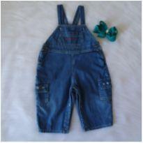 Jardineira jeans - 9 a 12 meses - Teddy Boom