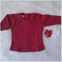 Camisetinha manga longa - 3 a 6 meses - Dolce Lily