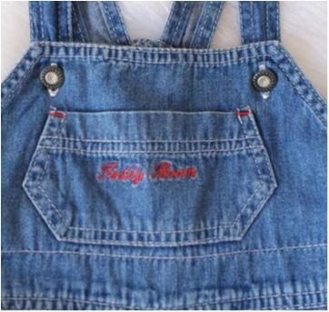 Jardineira jeans - 9 a 12 meses - Teddy Boom