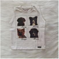 Camiseta cavada cachorrinhos - 1 ano - ser garoto
