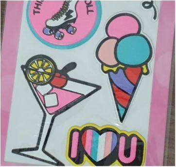 Cartela stickers comprado em Orlando - Sem faixa etaria - Importada