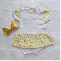 Body vestidinho floral - NOVO - 6 a 9 meses - Sof & Enz KIDS