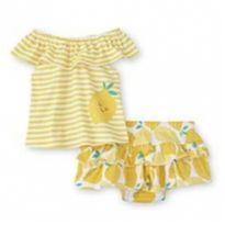 Conjuntinho limão comprado em Orlando - 9 a 12 meses - Baby Essentials