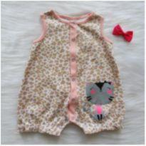Romper gatinha - 0 a 3 meses - Boulevard Baby