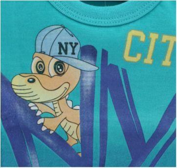 Camiseta jacaré baby - NOVA - 0 a 3 meses - Serelepe
