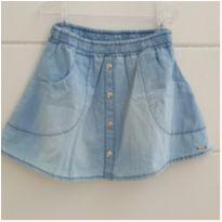 Saia/shorts jeans bem molinho Tam. 10 - 8 anos - Le Petit