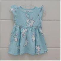 Vestido CARTERS coelhinhos (com tapa fralda) - 6 meses - Carter`s