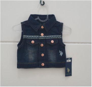 Coletinho jeans POLO - 1 ano - US Polo Assn
