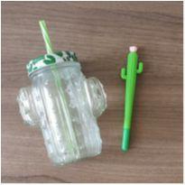 Kit caneca + caneta cactus