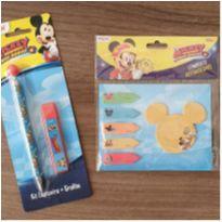 Lapiseira com grafite + kit postit Mickey -  - Diversas