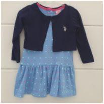 Vestido com bolero original POLO comprado em Orlando - 2 anos - US Polo Assn