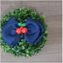 Laço azul,  cereja -  - Feito à mão
