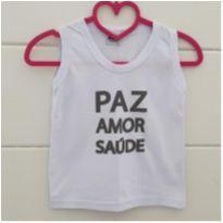 Camiseta paz, amor e saúde - 5 anos - Bicho bagunça