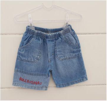 Shorts jeans - 6 a 9 meses - Ano Zero