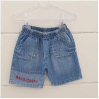 Shortinho jeans - 6 a 9 meses - Ano Zero