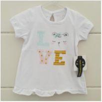 Camisetinha linda ursinha - NOVA - 3 a 6 meses - Baby