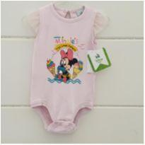 Body Minnie - NOVO - 6 a 9 meses - Disney