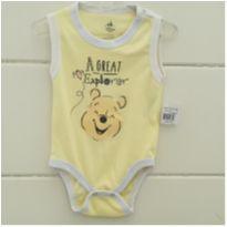 Body ursinho Pooh - NOVO - 9 a 12 meses - Disney
