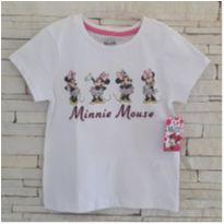 Camiseta Minnie  - Nova, com etiqueta - 6 anos - Disney