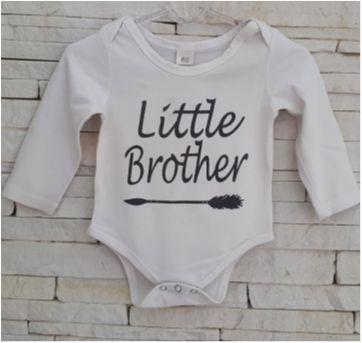 Body irmão caçula - 0 a 3 meses - sem etiqueta
