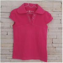 Blusa Gola polo pink - 7 anos - Miss Young