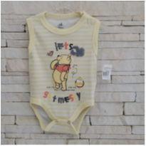 Body lindo Ursinho Pooh - NOVO - 3 a 6 meses - Disney baby