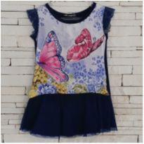 Vestido borboletas MARAVILHOSO - 1 ano - Arte Menor