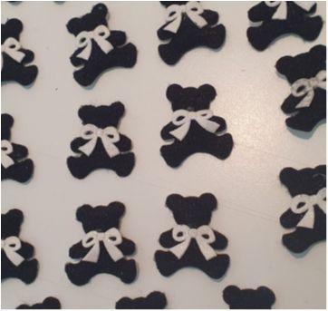 40 ursinhos para lembrancinhas de chá de bebê/maternidade ou aniversário - Sem faixa etaria - Importada