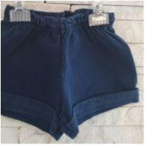 Shorts azul - 3 meses - etiqueta foi cortada